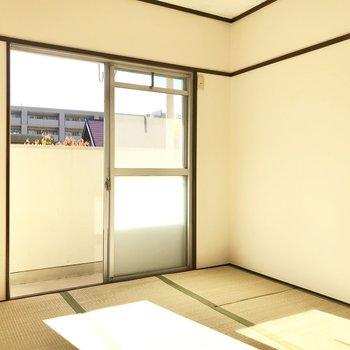 もう1部屋は日当たり良い和室、ここは寝室だな〜!