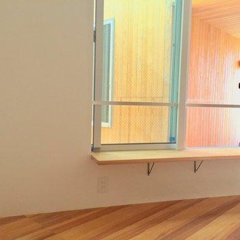 【上階】このすみっこがお気に入りの場所。クッションを置こうかな。※写真は前回募集時のものです