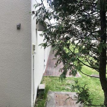 眺望は木と建物で隠れてるなぁ…
