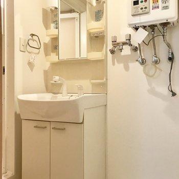 スタンダードな洗面台
