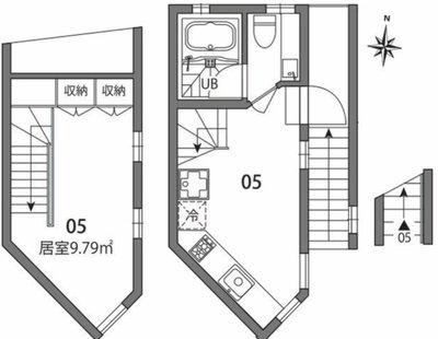 東新宿TERRACE W棟の間取り図