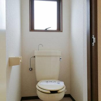 自然換気のできるトイレ。
