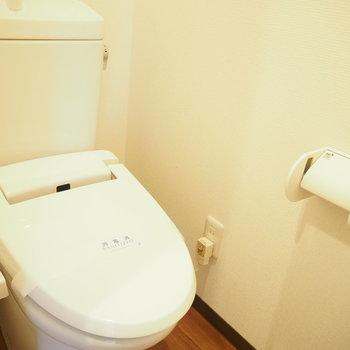 玄関のすぐ横にトイレ!