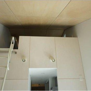 三角屋根のロフトです。※写真は3階の反転間取り別部屋のものです