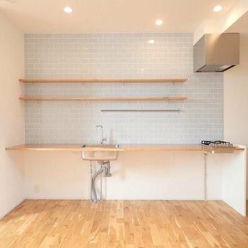 【LDK】素敵なキッチン、早速ズームアップしてみましょう。 ※写真は前回募集時のものです