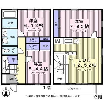 2階の一番明るいところにリビングです。
