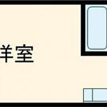 シンプルなワンルームのお部屋