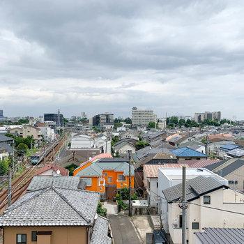 眺望は住宅街と目黒線