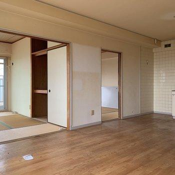 工事前】いまは激渋和室タイプのお部屋ですが一面無垢床になります!