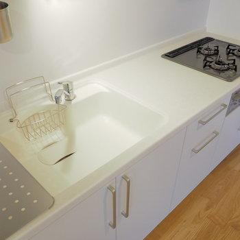 【完成イメージ】3口ガスコンロ+グリルの人気のキッチン