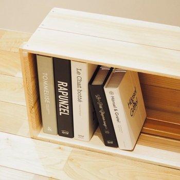 【インテリア参考例】大きな土間にはりんご箱をおけば自分だけの大きな図書館もできそう..!
