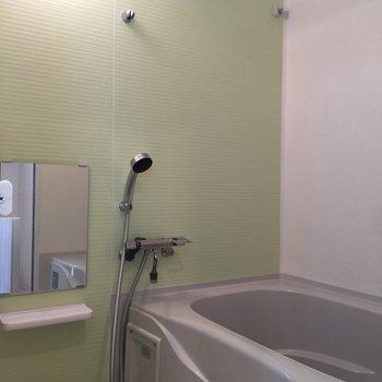 緑の壁も良い感じですね※写真は3階の同間取り別部屋のものです