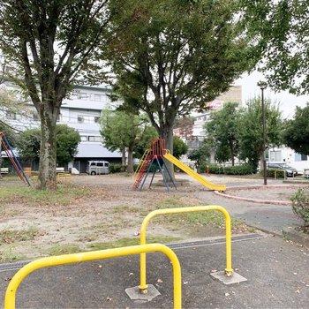お隣はきれいな公園!
