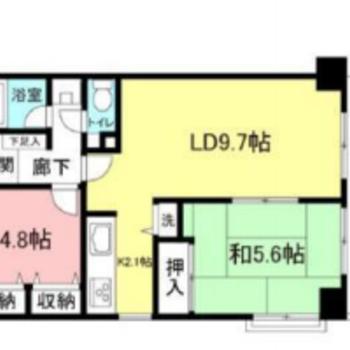 和室とリビングが隣接した間取りです。