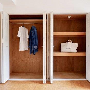 大容量な収納です。※家具はサンプルです