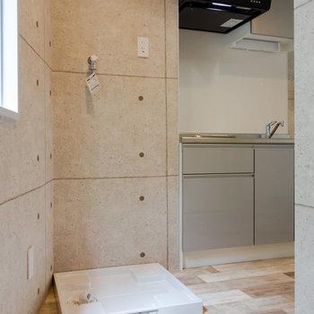 洗濯機は屋内に設置可能。