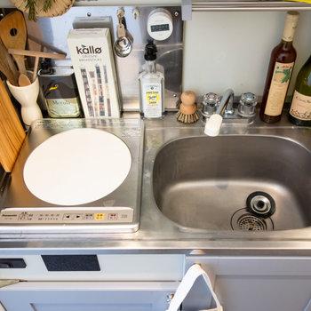 たまに自炊をするくらいならこれで十分かな。※家具、小物はサンプルです。
