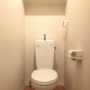 トイレはシンプルね。 (※写真は3階の同間取り別部屋のものです)