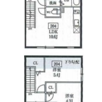 2階と3階にお部屋があります。
