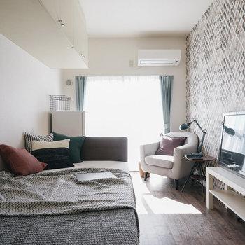 お部屋は11.25m²の空間!※写真は前回募集時、モデルルームのものです