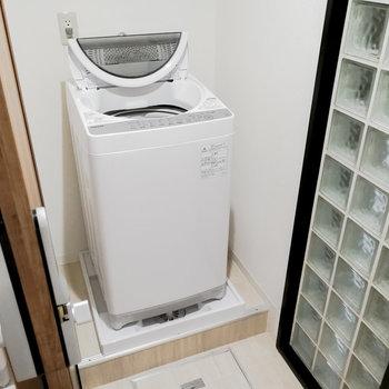 鍵をかけた場所での洗濯も可能です。