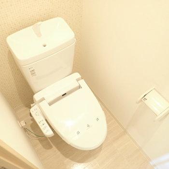 トイレもちょっとかわいい空間でした。(※写真は6階の同間取り別部屋のものです)