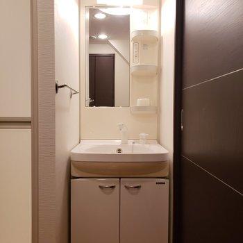 綺麗な独立洗面台(※写真は同間取り別部屋のものです)