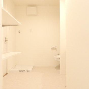 清潔感のあるサニタリー(※写真は4階の同間取り別部屋のものです)