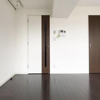 この右側のドアを開けると...※写真は通電前のものです