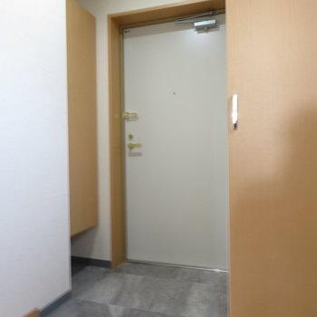 玄関も大きく(※写真は9階の同間取り別部屋のものです)