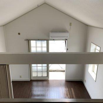 天井の高さがことがお分かりいただけるだろうか…
