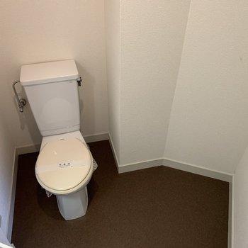 トイレの横のスペース。棚が置けそう