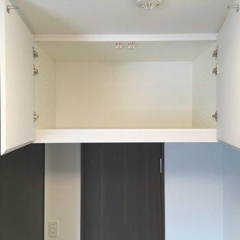 その上に天袋。こちらもたっぷりとした容量。※写真は5階の反転間取り別部屋のものです