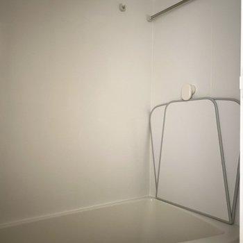 浴室もきれいでしたよ。※写真は通電前のものです