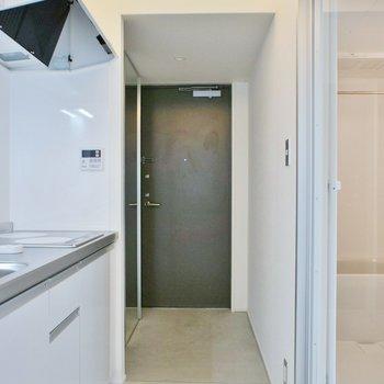玄関照明もクール※写真は同タイプの別室。