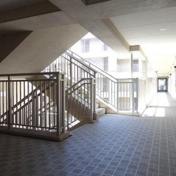 共用廊下広い〜!
