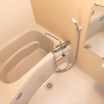 浴室のシャンプーラックは2段分。