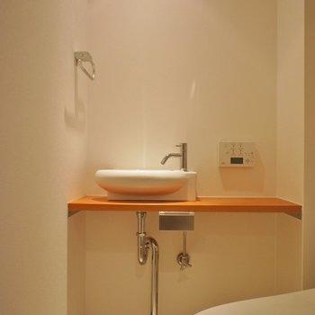 トイレの中にもミニ洗面が☆※写真は101号室のもの