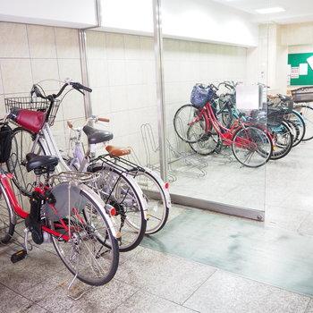 共用部】自転車置き場。