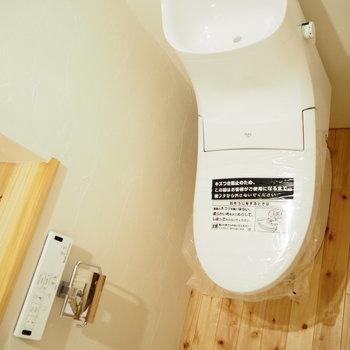 トイレはなんだか面白い形です。※写真は前回募集時のものです