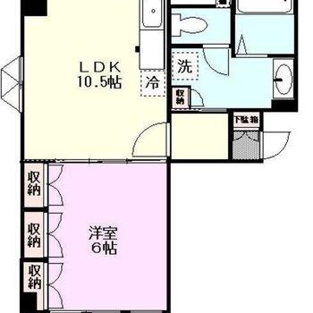 四角いお部屋で使いやすい。