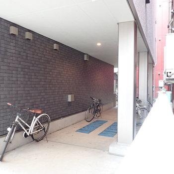 1階には駐輪場がありました。※写真は前回募集時のものです