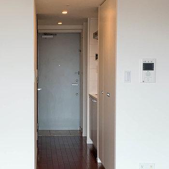 廊下部分は、収納・キッチン・収納。と言った並び。