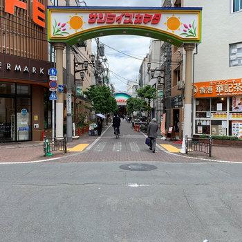 お部屋近くに商店街。ここを抜けたら蒲田駅です。