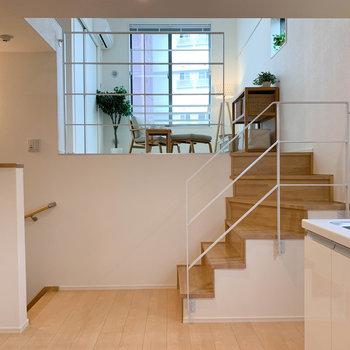 【キッチン】別のお部屋にいても、会話が届きそうだ。※写真は2階の同間取り別部屋のものです