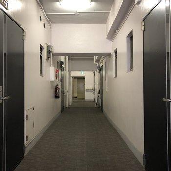 内廊下なので、プライバシー守られています。