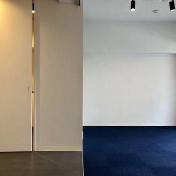 左のドアを開けると・・・(※写真は清掃前のものです)