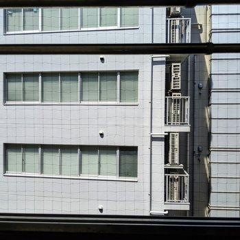 眺望は、お隣のオフィスビル。