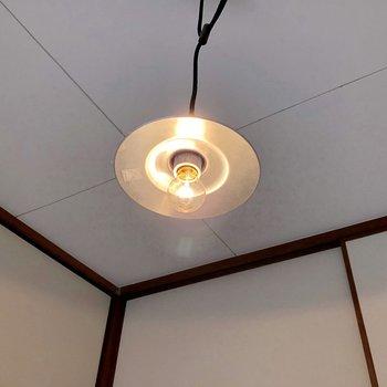この照明がツボでした。