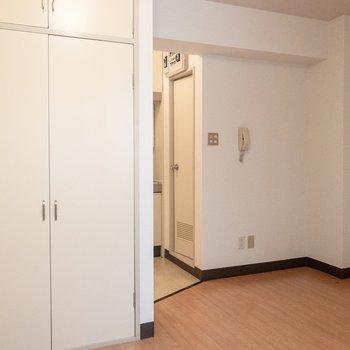 収納スペースもしっかりあります。※写真は3階の同間取り別部屋のものです